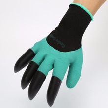 Garden Gloves Working Safety Gloves for Workers Rubber Polyester Builders Work Latex Protective 4 ABS Plastic Claws High Quality