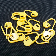 100 Pcs Useful Plastic DIY Sweater Hand Woven Wool Colors Mark Little Pin Buckle Counter Anti Solutions Needle Weaving Tools(China)