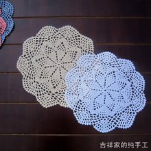 2013 new design 5 pic/lot flower lace crochet doilies as innovative items for home photo props round table coaster  placemats