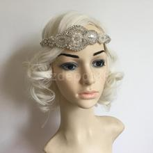 1920's 1930's Crystal Rhinestone Great Gatsby Flapper Headband Headpiece Costume Head Band Party Favor Fancy Dress
