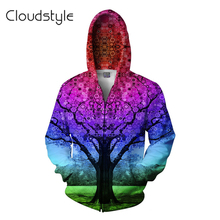 2017 New Arrival Harajuku Jacket Sweatshirt Hoodies Red Snow Tree 3D Print Coats Casual Sweatshirt Mixed Color Women Men Fashion