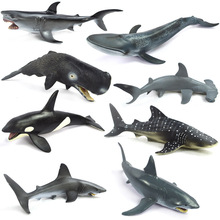 Shark Marine Animals Simulation Model Toy Gift Carcharodon carchari Killer whale Sea animal Blue whale
