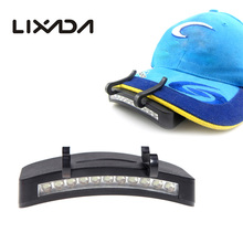 11 LED Clip-On Caplight White Light Lamp Cycling Hiking Camping Cap Light Night Fishing Repair Car Outdoor Caplights(China)