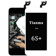 tianma DHL 3pcs Alibaba China Mobile Phone Parts For Iphone 6s Plus Lcd Display Touch Screen Assembly Special Offer black white