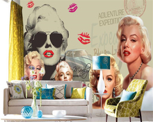 beibehang 3D wallpaper nostalgic retro Europe and the United States Monroe 3D stereo TV bedroom living room background wallpaper