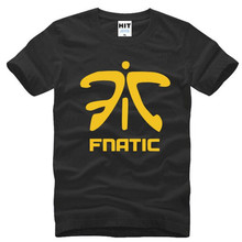 LOL Fnatic Team Logo Printed T Shirt Men New Summer Short Sleeve O-Neck Cotton Men's T Shirt Funny Game Uniforms Tee Shirt Homme(China)