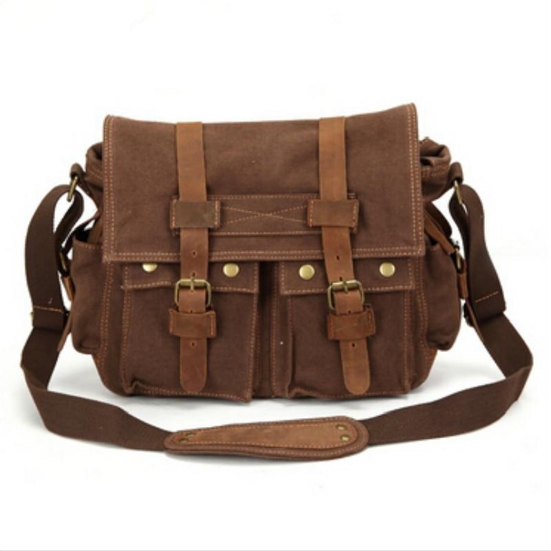 2017 High Quality Solid Men Messenger Bags Casual Men Canvas Bag Brand Crossbody Men Shoulder Bag Vintage Mens Travel Bags CS05<br>