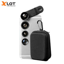Buy XLOT 5 1 Fish eye Phone Camera Lens Kit 198 Degree Fisheye Lens+0.63X Wide Angle+2X Telescope+ Macro+CPL Lens Smartphone for $9.39 in AliExpress store