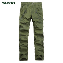 Brand TAPOO mens hunting pants high quality cotton zipped multi pockets trekking climbing hiking pants mens outdoor trousers(China)