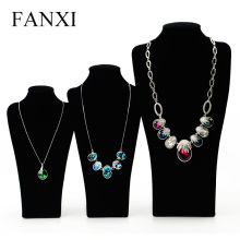 Oirvl Classical Black Long Board Necklace Mannequin Display Stand for Plush Customized Model Bust 35cm Jewelry Display Stand