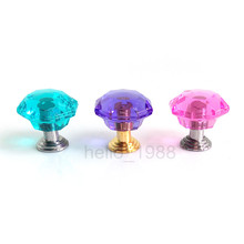 10pcs Plastic Pink Purple Blue Cabinet Handle Knob Drawer Knob Dress Knob Box Knob(China)