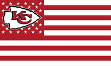 new design Kansas City Chiefs red and white flag with Metal Grommets(China)