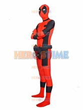 Red Deadpool costume spandex fullbody cosplay superhero costume great man zentai suit sector Eyes deadpool costume(China)
