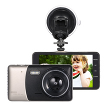 "KKMOON 4""Dual Lens Car DVR Camera Recorder Dash Cam Camcorder Car DVR with Two Cameras Blackbox Dash Cam Night Vision DashCam"
