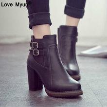 Mode Winter Frau Damen gürtel schnalle Stiefel Vintage Kampf Punk Ankle  Schuhe Frauen Echtem Leder elastische 18bcbe74dbf0