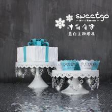 Birthday Cake Crystal Stand Candy Fruit Plate Wedding Cake Stand Bakery Cake Display Plates Dessert Crystal Refreshments Tray(China)