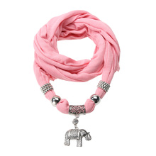 Necklace Casual Scarves Elephants Pendant Jewelry Scarf Shawl Wrap Fashion Scarf Black/white/pink/gray/khaki/red/purple
