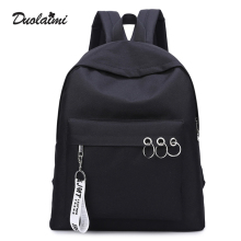 Herald Fashion Simple Casual Canvas Women Backpack Rucksack Mochila Escolar School Bag for Student Backpacks for Teenage Girls(China)