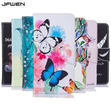 Buy JFWEN Coque Huawei P9 Lite Mini Case Leather Flip Wallet Case Huawei P9 Lite Mini 2017 Case Cover Painted Phone Cases for $3.99 in AliExpress store