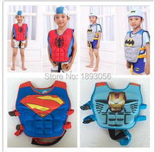 Water Sports Safety Life Vest For Kids,10 Designs Cartoon Superman Batman Spiderman Swimming Boy Girl Fishing Life Jacket Vest