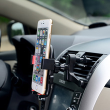 Vehicle Mounted Mobile Phone Holder Stand Car Use Buckle Type Air Outlet Support  For iPhone Htc GPS PDA Navigation  Car Styling