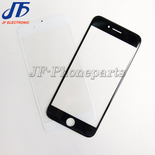 30pcs/lot Outer Glass  black white for iphone 7 7G 4.7 inch LCD Touch Screen Front Glass Outer Lens Replacement repair