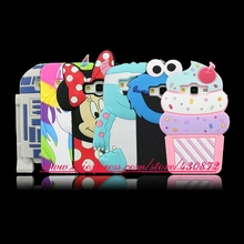 For Samsung Galaxy Core Prime G360 J1 J1 Ace 3D Silicon Unicorn Cupcake Minnie Sulley Cat Cartoon Soft Phone Back Case Cover