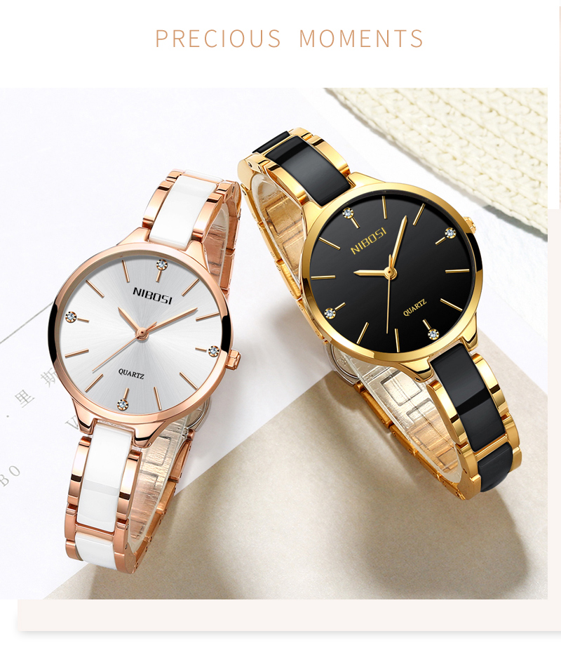 Relogio Feminino NIBOSI Women Watches Waterproof Top Brand Luxury Watch Women With Ceramics And Metal Strap Relojes Para Mujer (3)