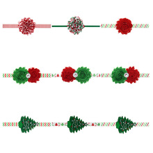 Cheap New Children Merry Christmas Tree Headband Fashion Toddler Head wear Elastic Hair Bands Accessories Headbands Gift