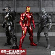 Hot sale MARVEL The Avengers Action Toy Figures 7 inch set Captain America iron Man kids gift model original Black widow box