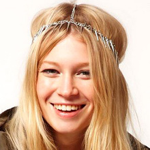 Hot Studs Punk Exaggerated Hairband Tiara Hair Ornaments Head Jewelry Wedding Apparel Accessories Decorations For Hair