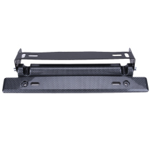 Universal Adjustable Car License Plate Frame Holder Carbon Fiber Racing Number Plate Auto Mount Bracket Car-styling(China)