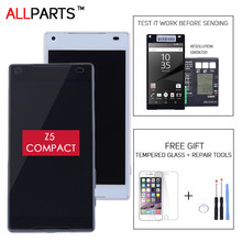 "with LOGO Original 4.6"" IPS E5803 E5823 Z5 mini Display For SONY Xperia Z5 Compact LCD Touch Screen Digitizer with Frame"