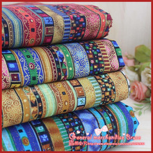 Hot ! 4piece 70*50cm Stripe Series cotton poplin fabric fat quarter ethnic bundle clothes bedding sewing patchwork Tilda(China)