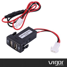Auto Car 2.1A Dual USB Port Charger Adapter Dashboard Mount  for Toyota VIGO Mobile Phone Power Supply