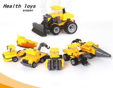Kazi Engineering Truck Car Building Blocks Bricks Construction Enlighten Toys For Children Birhthday Gift