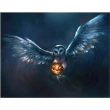 Li Loye Full Diy Diamond Paintings Embroidery Cross Stitch Owl pumpkin Pattern Halloween Gift Mosaic Needlework Art Decor FZ830(China)