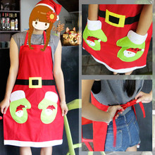 1PC Christmas Aprons Xmas Party Suppliers Home Decor Merry Christmas Waiter Aprons(China)