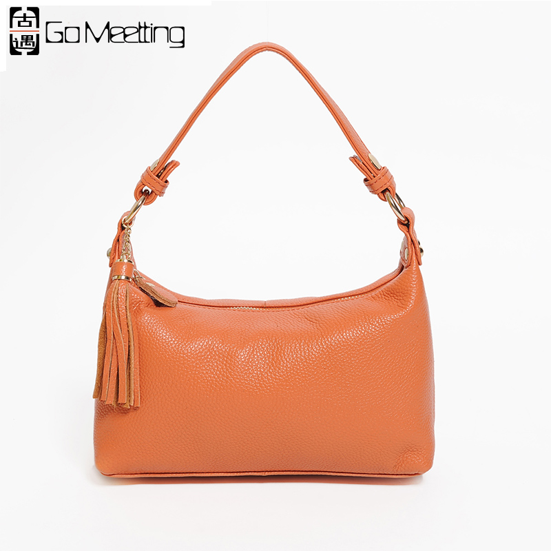 Go Meetting Brand Genuine Leather Women Shoulder Bag High Quality Cow Leather Women Crossbody Bags Fashion Samll Messenger Bag<br>