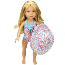 Doll Accessories Fashion swimsuit Clothes for dolls fits18 inch 45cm American girl(China)