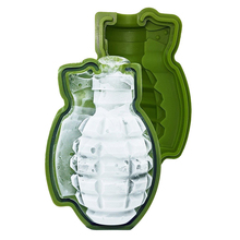 3D Grenade Ice Cube Mold Creative Bar Pub Accessories Tools Green 3D Large Ice Cube Mold Food Wine Silicone Ice Mold