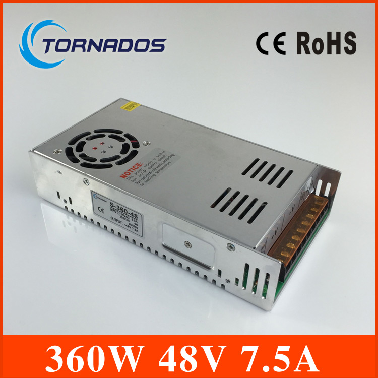 48v power supply Single Output Power Supply 360W 7.5A 48V transformer Foaming Mill Cut Laser Engraver Plasma S-360-48<br>