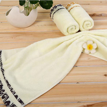 33*74cm Soft Elegant Cotton Hand Towels for Adults Decorative Face Bathroom Hand Towels kjl018(China)