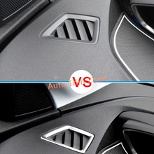 2PCS Steel Interior Front Upper Air vent Cover Trim For Peugeot 3008 GT 2017 Left Hand Drive