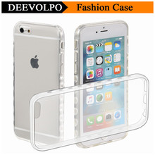 DEEVOLPO Transparent Phone Case For Apple iPhone 5C 5 5S SE 6 6S 7 Plus ipod touch 5 6 Clear Soft Silicone Cover Shell DP57