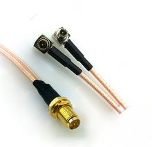 2pcs 15cm RF RP-SMA female to Y type 2X TS9 male Splitter Combiner cable pigtail RG316 One SMA point 2 TS9/S197 connector
