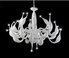 Italy Swan Chandelier Modern Murano Chandeliers Creative Art Glass chandelier Light 24 Head (White Color)Free shipping(China)