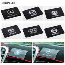 Car Automobiles Accessories LOGO Silica Gel Black Anti-slip Magic Mats Sticky Resistant Pad Styling For Mobile Cell Phone