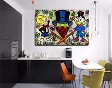 Free shipping pop artist Painting Richie Rich Graffiti money art Alec Monopoly Banksy arts poster hand painted no frame x-157