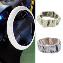 New Fabric Handmade Steering Wheel Cover Breathability Skidproof Universal Fits Most Car Styling Steering Wheel hot selling(China)